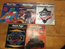 Atari Age Magazine 5 Issues Volume 2 Number 1-5 1983