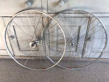 Campagnolo Record Pista High Flange Mavic Tubular Track Bike Wheels Fixie Eroica