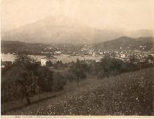 G. Sommer, Schweiz, Luzern, Panorama von der 3 Linden  Vintage albumen print.