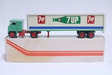 NICE VINTAGE WINROSS 7UP TRACTOR TRAILER W/ BOX