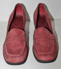 EASY SPIRIT Comfort Loafers Shoes 10M Rust Red Leather