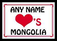 Amor Corazón Mongolia Personalizados Mantel Individual