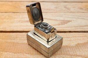De La Rue & Co Casket Traveling Ink Well - C1878 - Useable