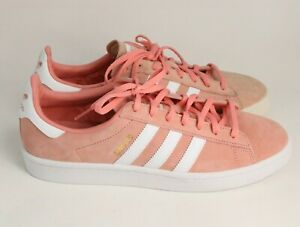Adidas Originals Women 10 Pink Campus Casual Sneakers Ladies B41939