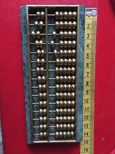Brass chinese abacus On Marbel Hand Made Hard To Find