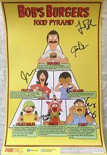 Bob's Burgers cast signed auto autographed 2014 SDCC poster Mintz Murphy Schaal