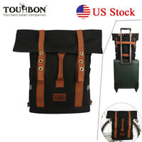 Tourbon Bike Panniers Rack Bag Backpacks Luggage Saddle Commuter Pack Travel USA