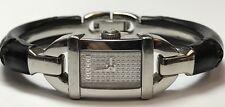 Gucci 6800L Ladies Black Band Silver Time Diamond Dial Ladies Wrist Watch Quartz