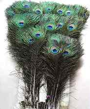 Peacock eye natural feathers 10-12inch /25-30CM 10pcs carnival Diy costume mask
