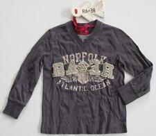 (21) Cooles RARE-The Kid Boys Langarm Shirt mit Logo Druck und Besatz gr.92