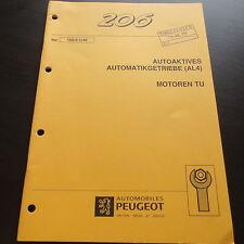 Werkstatthandbuch Peugeot 206 * Automatik Getriebe AL4 für Motor TU 11/1998