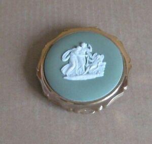 Wedgwood Jasperware Sage Green Cupid Compact