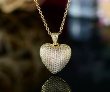 Sevil- Heart Pendant Necklace With Swarovski Elements Layered In 18K Gold