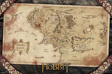 The Hobbit JRR Tolkien MAP OF MIDDLE EARTH Rare Collectible Wall POSTER
