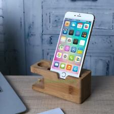 Wooden Charging Dock Station Charger Holder Stand For Apple Watch iPhone Android