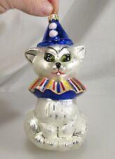Radko Christmas Ornament, Clown Cat    -  58461