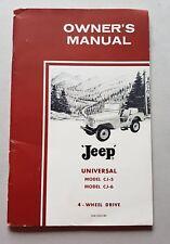 Willys Jeep CJ-5 CJ-6 1961 manuale uso originale genuine owner's manual