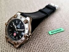 SWISS MILITARY MENS BLACK DIAL ROUND AUTOMATIC DATE SERVICED WATCH EU SHIPPING