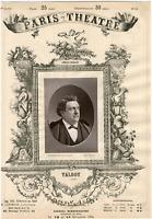 Lemercier, Paris-Théâtre, Talbot, acteur Vintage albumen Print Tirage albumi