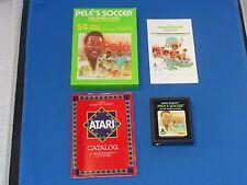Vintage 1981 Atari Pele's Soccer Video Game Cartridge W/Box & Instructions!