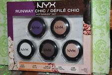 Nyx Cosmetics 2014 Limited - Runway Chic 5pcs Single EYE Shadows SET