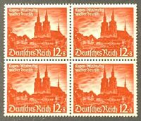 Germany. German Reich.12pf+8pf Culture Fund BLOCK. SG737. 1940. MNH. #SC23