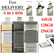 64/128/256GB i Flash Drive USB-Stick 2.0 Memory Stick 3 in 1 für Android IOS PC