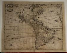 AMERICAN CONTINENT CALIFORNIA AS AN ISLAND 1652 HENRY SEILE UNUSUAL ANTIQUE MAP