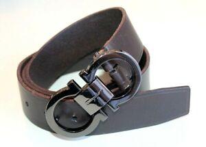 Salvatore Ferragamo men's Belt Dress Buckle & belt brown leather US 36