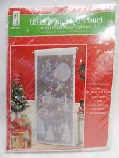 Lighted Santa Sleigh Lace Curtain Panel Wall Window Holiday Home Decor Lights