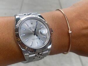 Rolex-Datejust Sainless Steel Jubilee Bracelet 41MM 126334 Mint Condition W-Card