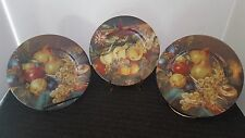 3 RICHARD LIMOGES FRUIT DESIGN SALAD PLATES