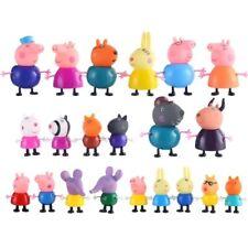 21/25pcs Peppa Pig Cartoon Anime Action Figure Dolls Model Toy Kids Gift Cute