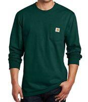 CARHARTT K126 Men's Workwear Jersey Pocket Long-Sleeve T-Shirt Hunter Green 2XL