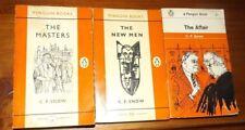 C P Snow The Affair The New Men The Mistress 3 Vintage Penguin Paperbacks