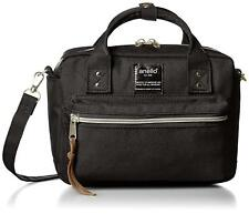 Anello AT-C1223 Shoulder Mini Boston Bag Black Polyester From Japan F/S NEW