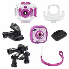 Vtech Kidizoom Action Cam/Smart Watch Bundle for Girls, Pink