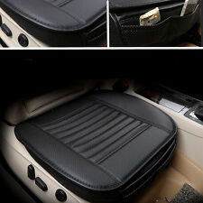 Black Car Chair Seat PU Leather Bamboo Charcoal Cushion Pad Protect Cover Mat