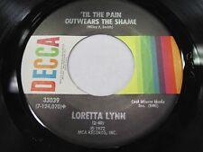 LOT OF 3 Loretta Lynn 45's Decca 1970's