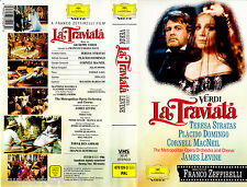 "VHS - "" Franco Zeffirelli`s - La TRAVIATA ( VERDI ) "" (1983) - Plácido Domingo"