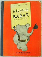 Jean de Brunhoff Histoire de Babar Albums French Illustrated 1949 Book