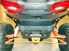 "Polaris RZR XP 1000 EXTREME Rear Bumper,1/8"" Thick American Steel Plate, BLACK"