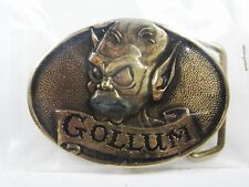 1979 Lord of the Rings Gollum Brass Belt Buckle by Tolkien Enterprises w/ Box