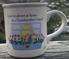 LOVE IS ALWAYS AT HOME IN A GRANDMOTHER'S HEART CUP  MADE BY AMERICAN GREETINGS
