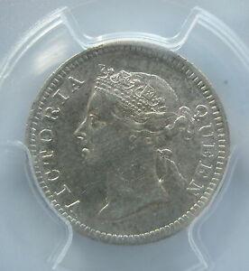 STRAITS SETTLEMENTS Malaysia 5 cents 1901 PCGS AU 53 Britain About UNC