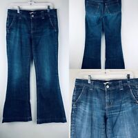 Gap 1969 Womens Jeans 6 Stretch Low Rise Limited Edition Super Flare Bell Bottom