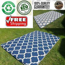 Indoor Outdoor Patio Area Rug Plastic Mat RV Camping Reversible Carpet Beach NEW