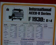 International ACCO B Ser. F1930 6x4, Truck, sales brochure / specification sheet