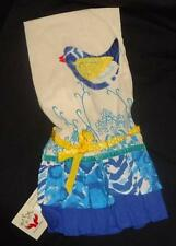 Demdaco Donna Downey Bluebird Cotton Tea Towel NWT Bird