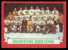 1973 74 OPC O PEE CHEE #93 BOSTON BRUINS TEAM EX-NM WITH BOBBY ORR HOCKEY CARD